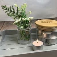 Glass Storage Jars - Candle & Matchstick Set